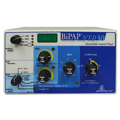 BiPAP STD 30 Control Panel - Soma Technology, Inc.
