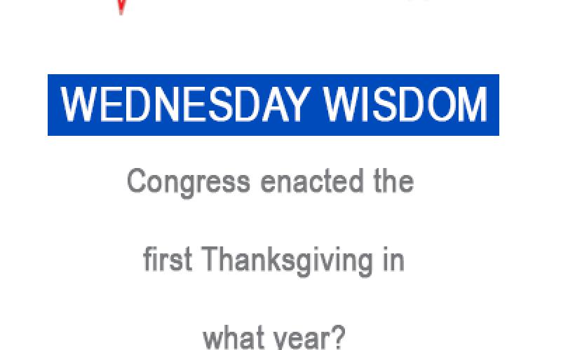 Wednesday Wisdom 11/22/17