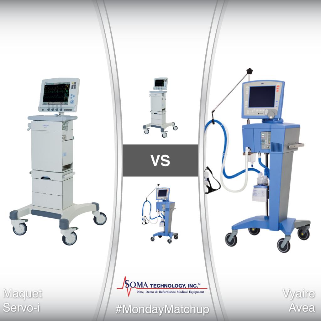 Maquet Servo-i vs Vyaire Avea Ventilators - Soma Technology, Inc.