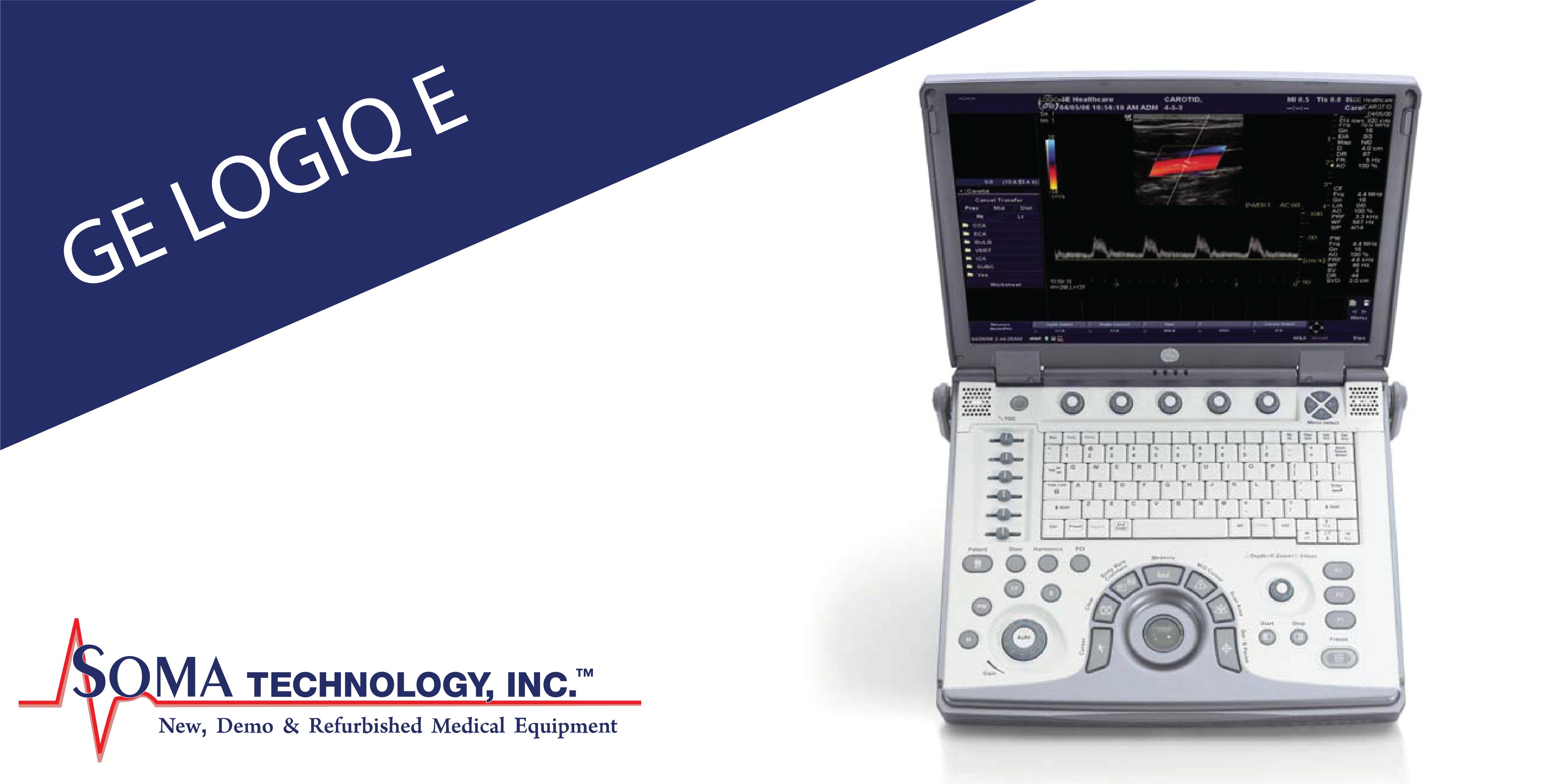 GE LOGIQ E - Portable Ultrasound Machine - Soma Technology, Inc.