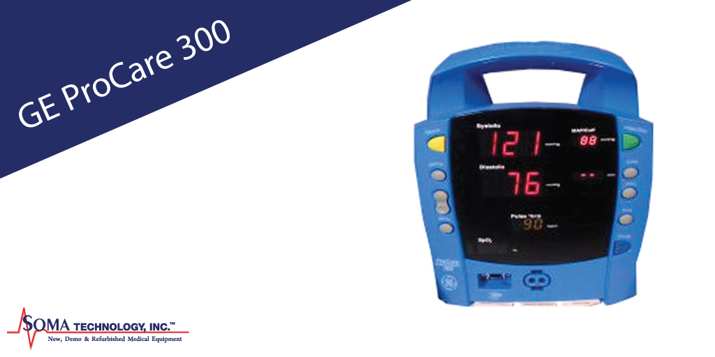 GE Dinamap Procare 300 Patient Monitor Featuring Portability on