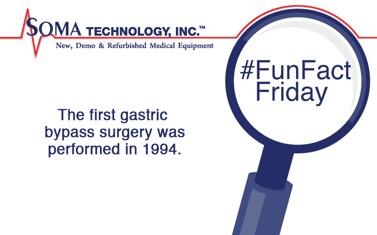 The first gastric bypass surgery was performed in 1994