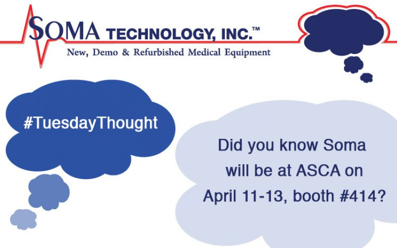 Soma Technology Will Be at ASCA 2018 in Boston on April 11-13