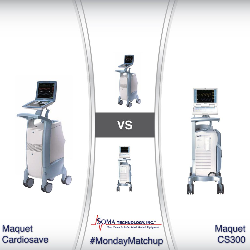 What's the difference between the Maquet Cardiosave Hybrid and the Maquet Datascope CS300 - Comparing the Cardiosave and the CS300