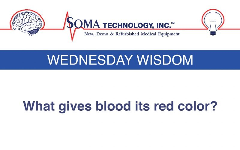Wednesday Wisdom: What Gives Blood Its Red Color?