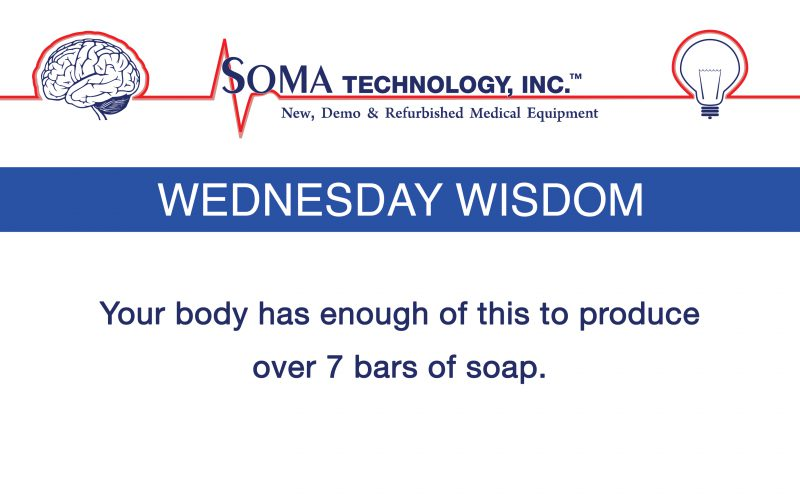 Wednesday Wisdom: Your Body Has Enough of this to Produce Over 7 Bars of Soap?