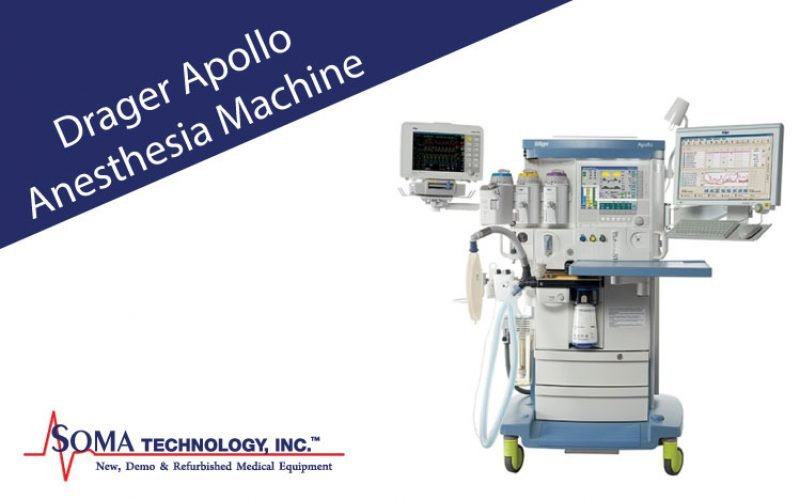 Drager Apollo Anesthesia Machine Featuring Gas Monitoring