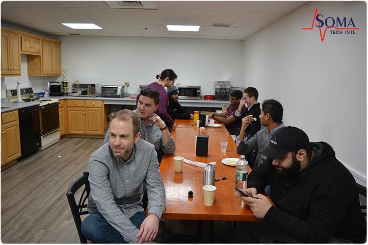 Soma Tech Intl - Valentines Trivia Event - Brian Nalley, Dia Zaben, Paul Chowaniec, Adam Gatzuras, Schleshin Molly-David, Ashish Dhammam
