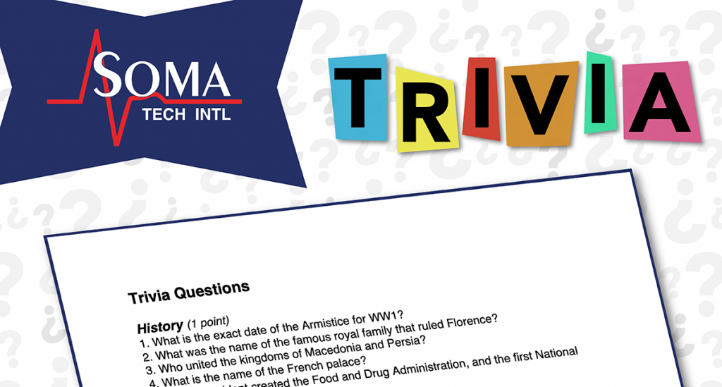 Valentines Day Trivia Event at Soma Tech Intl