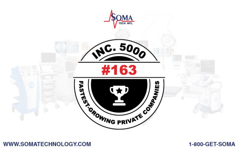 Inc. 5000: Soma Tech Intl Announced Amongst Growing Companies 2021