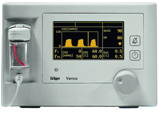drager vamos co2 and agent monitor - Equipo Medico Central - Soma Technology, Inc.