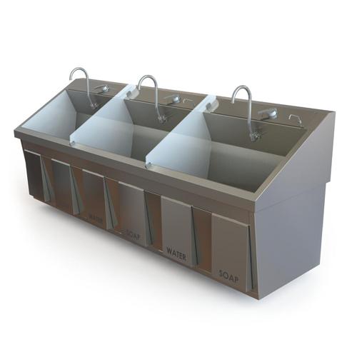 Scrub Sink Model SS96 IR MB TM - Equipo Medico Central - Soma Technology, Inc.