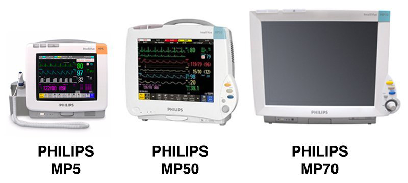 Comparación de Philips MP5, MP50, y MP70