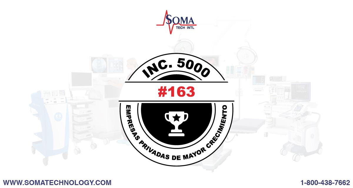 Inc. 5000: Soma Tech Intl Se Anuncia Entre Las Empresas En Crecimiento 2021